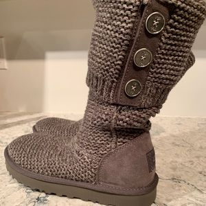 UGG Purl Cardy Knit Boots 8